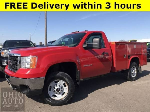 Photo 2012 GMC Sierra 2500HD Work Truck 4x4 34 Ton Service Utility Bed We F - $14000 (Easy Financing - (330) 752-4461)