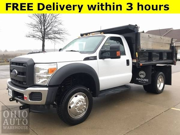 Photo 2016 Ford Super Duty F-550 DRW Chassis Cab XL 4x4 Dump Bed Snow Plow 1 - $43000 (Easy Financing - (330) 752-4461)