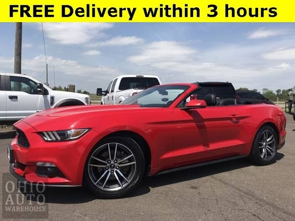 Photo 2017 Ford Mustang EcoBoost Premium Convertible Leather Clean Carfax We - $21995 (Easy Financing - (330) 752-4461)