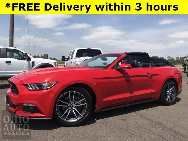 Photo 2017 Ford Mustang EcoBoost Premium Convertible Leather Clean Carfax We - $20500 (Easy Financing - (330) 752-4461)
