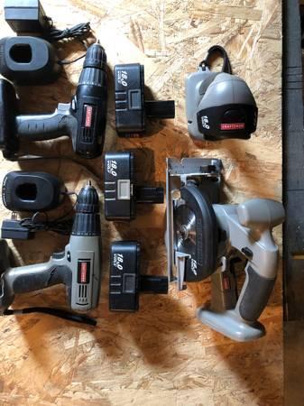 Photo Craftsman 18 Volt Tool Set - $40