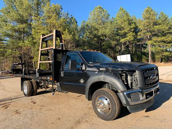 Photo Damaged Wreck 2014 Ford F550 Super Duty Powerstroke Diesel Flatbed - $16500 (greenwood sc)
