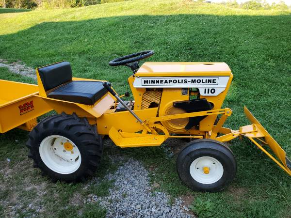 Photo Fully restored antique MM garden tractor with blade, wagon and mower d - $1,500 (Bridgeport)