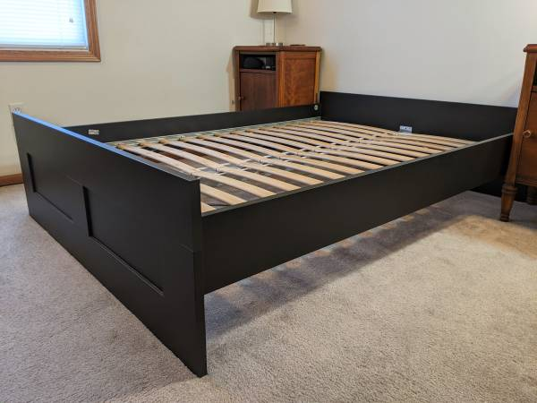 Photo IKEA Brimnes bed frame, size full, excellent condition - $100 (Morgantown)