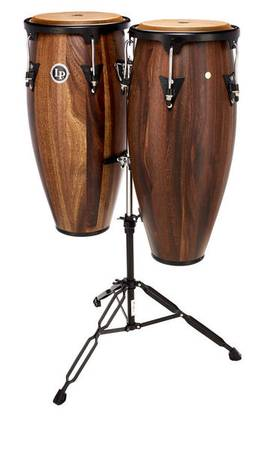 Photo LP Aspire Siam Walnut Conga Set 11 and 12 with stand and bags - $425 (FAIRMONT)