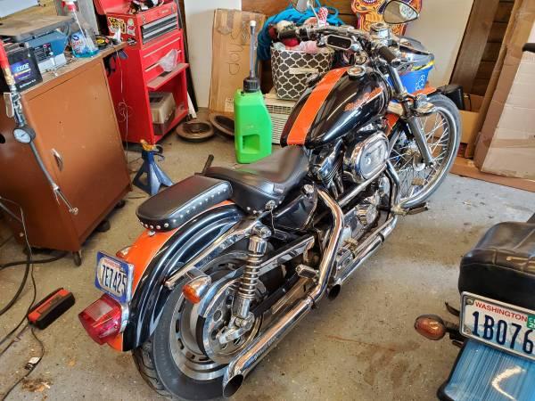Photo 1999 Harley Davidson 1200 sportster custom - $5,000 (MOSES LAKE)
