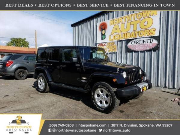 Photo 2013 Jeep Wrangler Unlimited Sahara - $20,980 ($500 down you39re approved)