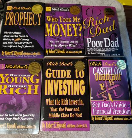 Photo Lot of Rich Dad Poor Dad collection - $41 (Spokane)