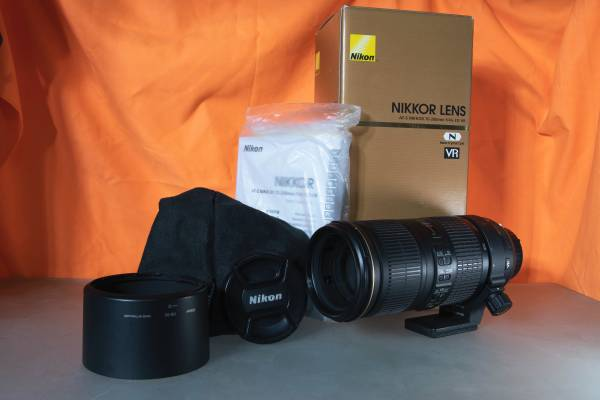 Photo Nikon 70-200mm f4 G AF-S ED VR Lens, great condition - $600 (Spokane Valley)