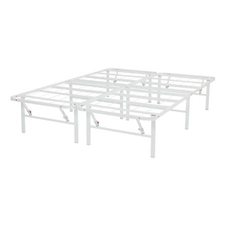 Photo QUEEN White 14quot High Profile Foldable Steel HEAVY DUTY Bed Frame - $109 (Moses Lake)
