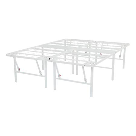 Photo QUEEN White 18quot High Profile Foldable Steel HEAVY DUTY Bed Frame - $119 (Moses Lake)