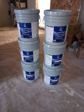 Photo Sherwin-Williams SuperPaint 30 gallons - $1,800 (MOSES LAKE)