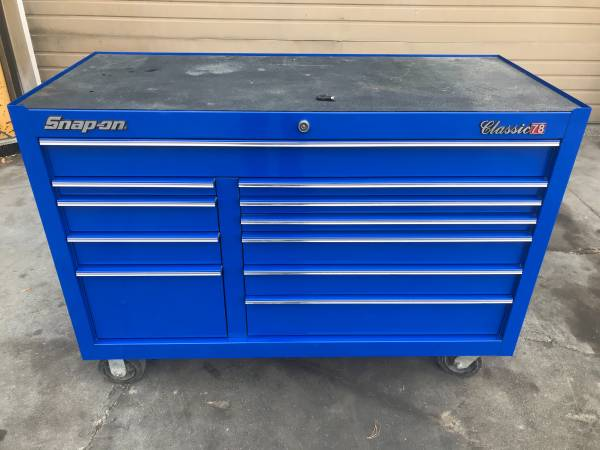 Photo Snap-On Classic 78 55quot 11 Drawer Rolling Toolbox - $2,750 (Moses Lake)