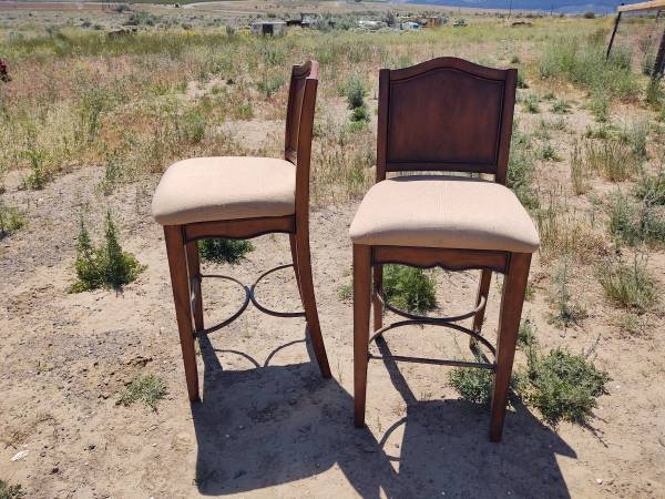 Photo Two Bar Height Chairs - $150 (Quincy)