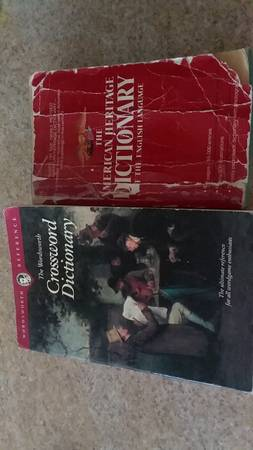 Photo Two dictionaries one crossword dictionary and one American Heritage - $5 (Wenatchee)