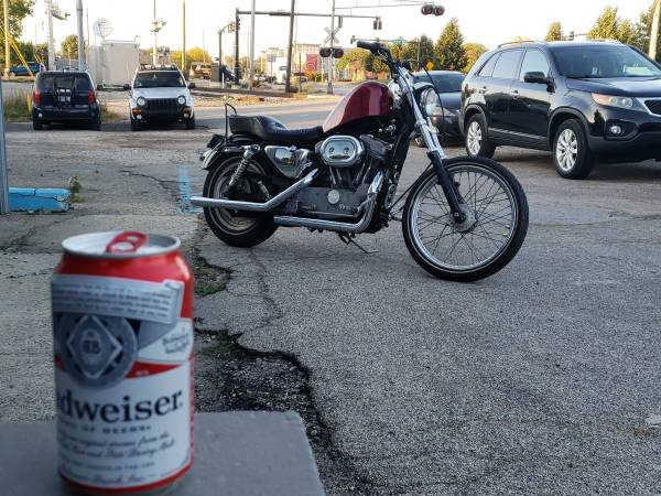 Photo 2002 Harley Davidson Sportster custom 883 - $2,500 (Indianapolis)