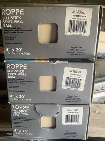 Photo 4 Self Stick Vinyl Wall Base - Almond - $30 (Deshler)