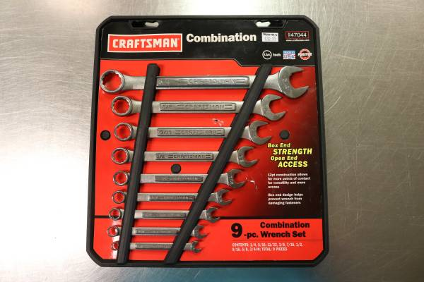Photo Craftsman 12pt. Inch 9 Piece Combination Wrench Set - $39 (Anderson)