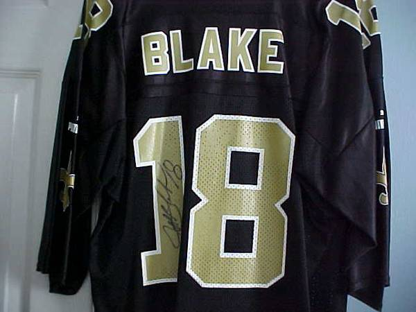 Photo Jeff Blake, 18 New Orleans Saints QB Autographed Jersey - $35 (Beavercreek, OH)