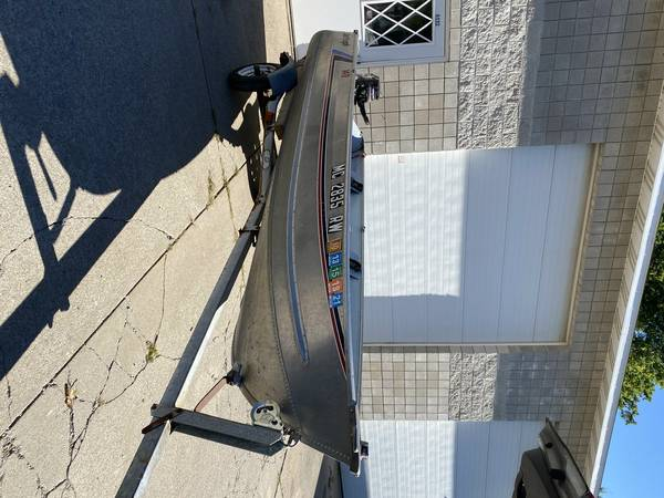 Photo 14ft Fishing Boat, trailer and motor for Sale - $2,200 (Muskegon)