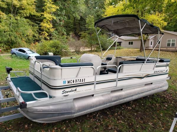 Photo 1998 Starcraft Pontoon boat 30hp Mercury - $6500 (holton)
