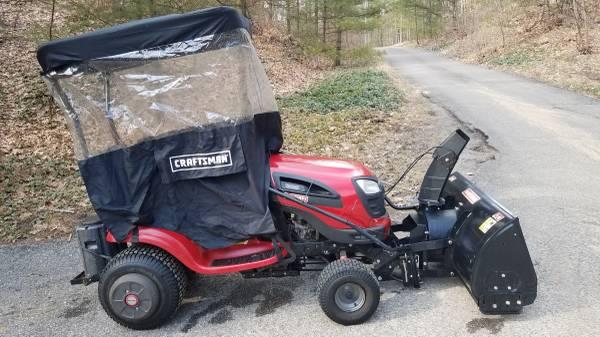Photo Craftsman Yard Tractor Mower and Snowblower - $2200 (Whitehall)