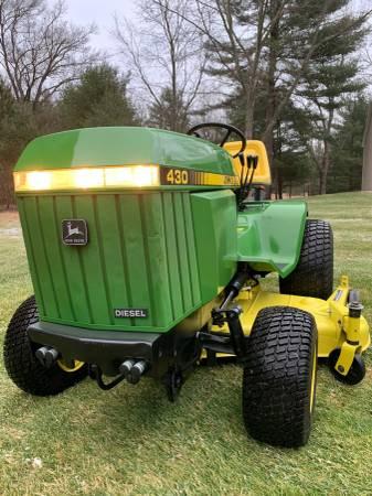 Photo John Deere 430 Diesel Garden Tractor - $5000 (Whitehall)