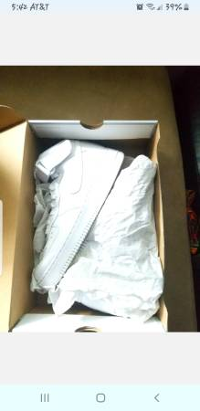 Photo Like New Mens Size 9 12 Nike Mid Top Air Force 1. Black and White P - $140 (Roosevelt Park)