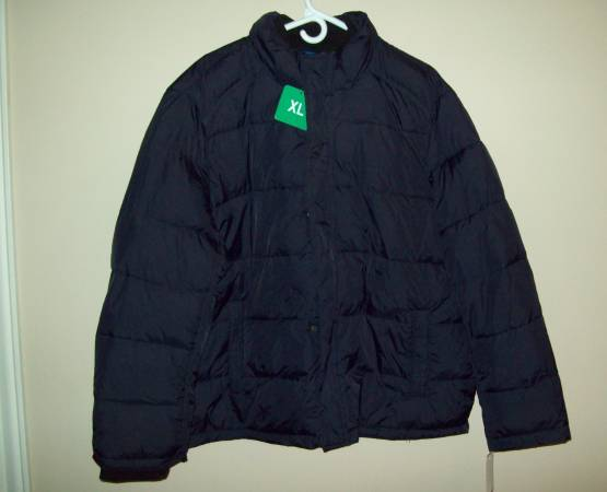 Photo New ANDREW MARC Navy Blue WIND WATER PROOF PUFFER JACKET Coat Men39s Si - $30 (Whitehall)