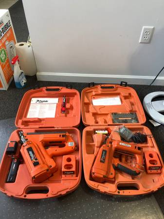 Photo Paslode cordless nailers both work great - $225 (Muskegon)