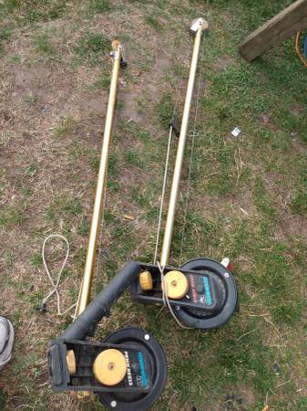 Photo very nice set of 2 penn 620 fathom downrigger fishing pole - $200 (gr mi)