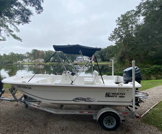 Photo 2011 Carolina Skiff 178 DLV Mod Vee Tri Hull 90 Hrs Yamaha. Low Hours - $16,900 (Pawleys Island SC)