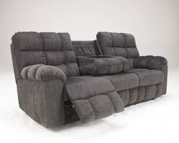 Photo ASHLEY ACIEONA RECLINING SOFA WITH DROP DOWN TABLE - $630 (ABOVE  BEYOND SUPER STORE CONWAY)