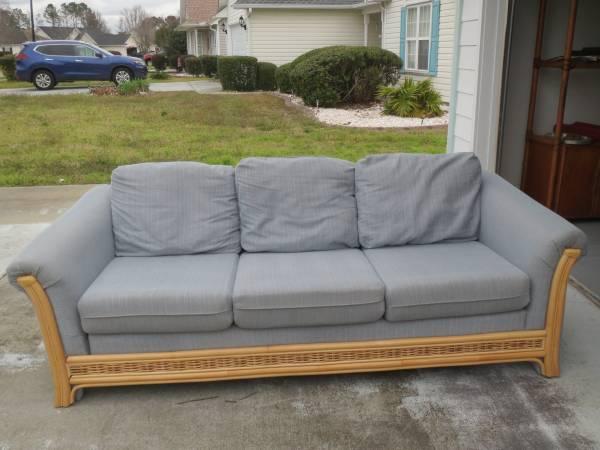Photo Blue fabric sofa - $75 (LITTLE RIVER)
