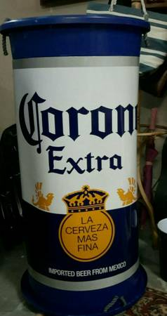 Photo CORONA EXTRA Advertising Display LARGE BEER CAN Cover Wrap Poster GLOSSY - $20 (Conway)