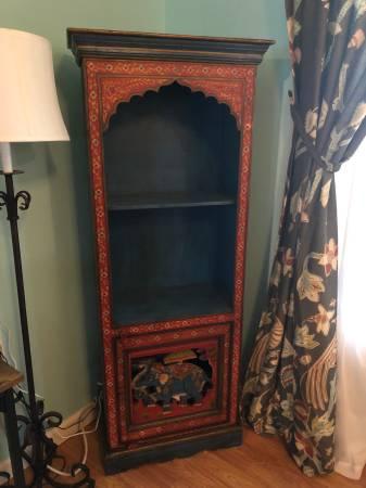 Photo Cost Plus World Market Elephant and Floral Motif Boho Bookcase - $275 (PAWLEYS ISLAND)