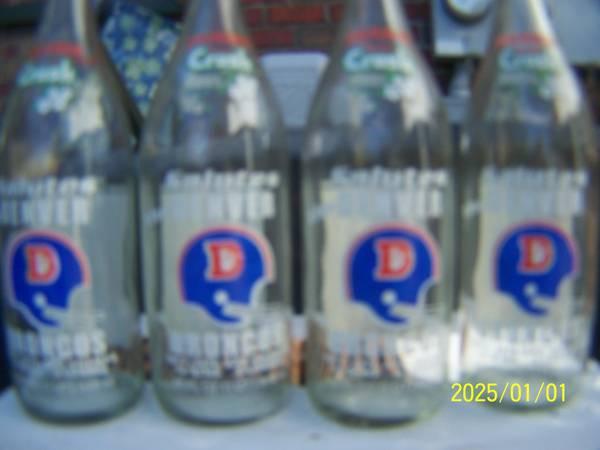 Photo Denver Broncos Orange Crush bottles 1977-78 each - $15 (South Beach Area)