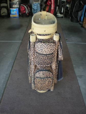 Photo Ladies Golf Bag, Custom Made, Leopard, Like New - $125 (Murrells Inlet)