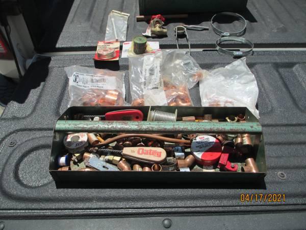 Photo Metal tool box with plumbing supplies - $18 (Myrtle Beach)