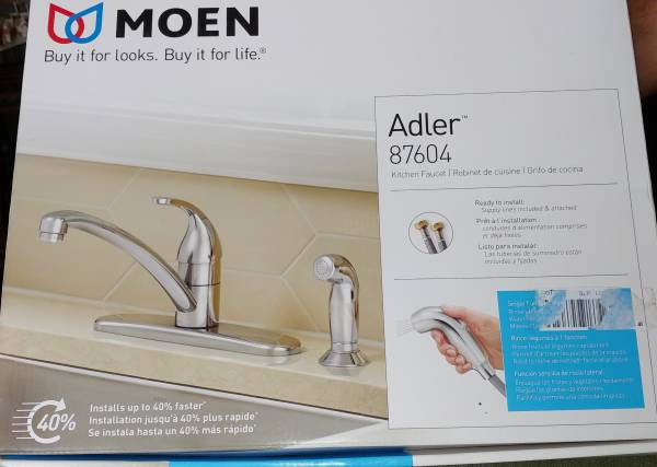 Photo Moen Kitchen Faucet-Adler - $55 (Myrtle Beach)