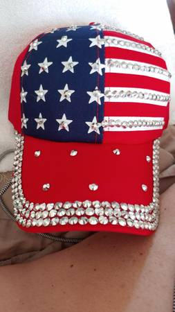 Photo RED, WHITE, BLUE HAT WBLING - $15