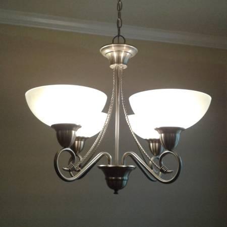 Photo Used Brush Nickel Ext and Interior door set, Lights, Shower Bar, Towel - $315 (Woodbury Subdivision)