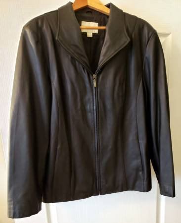 Photo Womens black lambskin leather jacket - $20 (North Myrtle Beach)