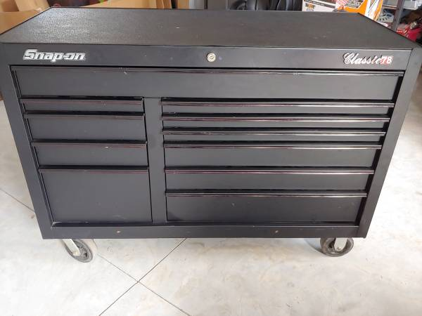 Photo quotTRADEquot or SALE Snap On Toolbox Classic 78 Black 11 Drawer quotNEED GONEquot - $1200 (Murrells Inlet)