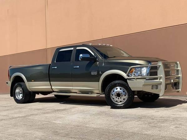 Photo 2012 Dodge Ram 3500 Dually Longhorn 4X4 6.7L Diesel - $29900 (Southwest Houston (Galleria))
