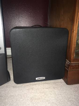 Photo Polk Audio Powered Subwoofer (PSW111) - $180 (College Station)