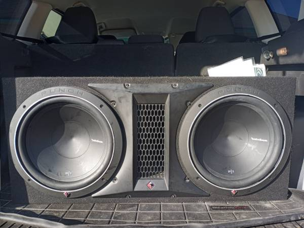Photo Rockford Fosgate 12quot subs - $650 (Madisonville, Tx)