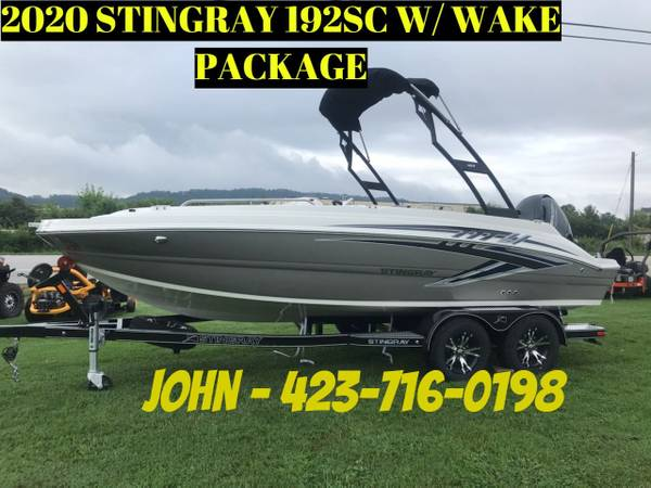 Photo 2020 STINGRAY 192 SC WITH WAKE TOWER KIT EASY FINANCING (CALL OR TEXT JOHN 423-716-0198)