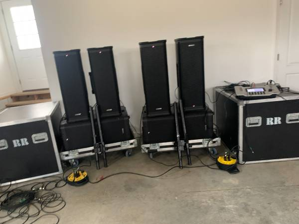 Photo 4 Line 6 Speakers, 2 Line 6 Subs, Line 6 Mixer, Road Cases, Stands - $7,000 (Gallatin)