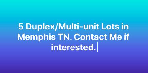 Photo 5 Duplexmulti-unit lots in Memphis TN (Memphis)